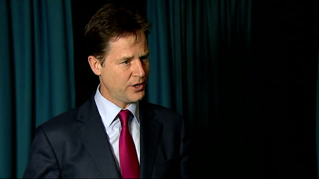knife crime mandatory sentence row greater manchester stockport int nick clegg mp interview sot the popular easy thing to say would be 'yeah yeah... - stockport bildbanksvideor och videomaterial från bakom kulisserna