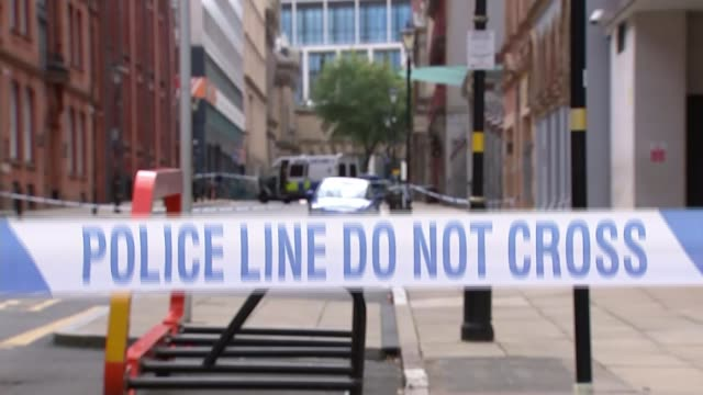 one dead seven injured and manhunt underway after stabbing spree in birmingham city centre england birmingham city centre day savvas sfrantzis... - rack focus stock videos & royalty-free footage