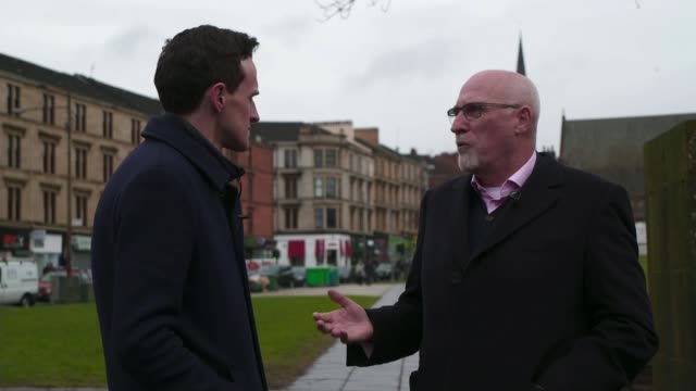 police scotland violence reduction unit scotland glasgow reporter to camera/ day john carnochan interview sot - reduction stock videos and b-roll footage