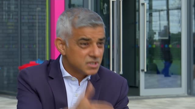 Sadiq Khan announces investment in early intervention projects ENGLAND London Barking Future Youth Zone EXT Sadiq Khan interview SOT
