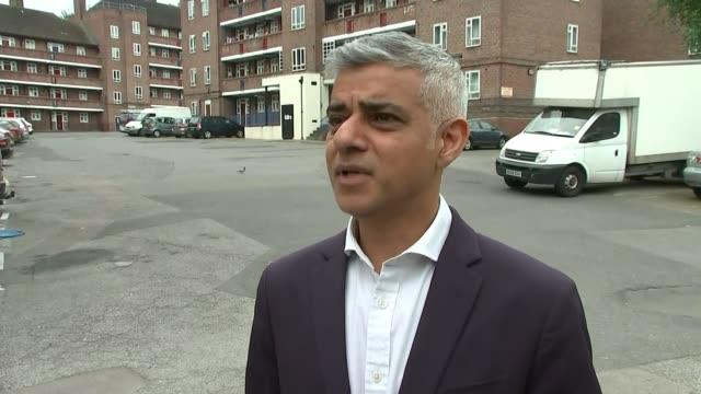 Sadiq Khan joins police patrolling Tulse Hill estate ENGLAND London Tulse Hill EXT Sadiq Khan interview SOT Det Ch Insp Shaun White interview SOT