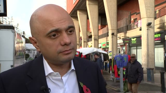 sajid javid and cressida dick visit brixton to launch new initiative england london brixton ext sajid javid mp interview sot on tackling serious... - messerstecherei stock-videos und b-roll-filmmaterial