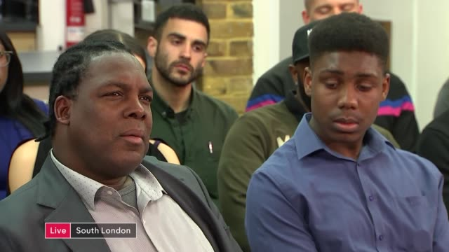 studio discussion and interviews live england london lambeth discussion with contributions from mike jonas alison cope pastor lorraine jones - lambeth stock videos & royalty-free footage