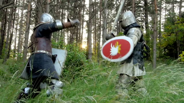knight fight - traditional armor stock videos and b-roll footage