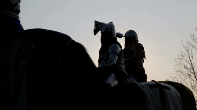 knight on horseback - the crusades stock videos & royalty-free footage