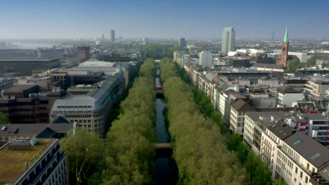 königsallee - boulevard video stock e b–roll