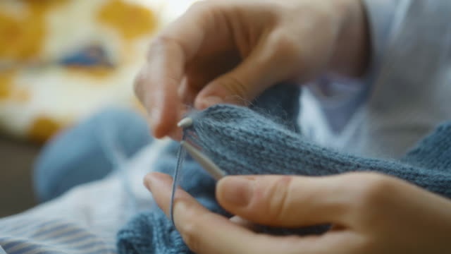 knitting - ball of wool stock videos & royalty-free footage