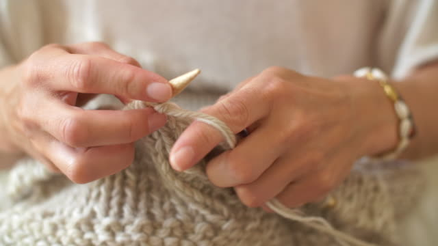 knitting - art and craft stock videos & royalty-free footage