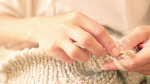 knitting - knitting stock videos & royalty-free footage
