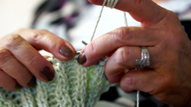 knitting - knitting needle stock videos & royalty-free footage