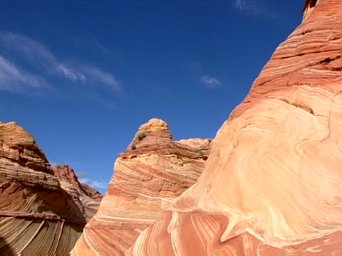 knobby, swirled formations - sandstone stock videos and b-roll footage