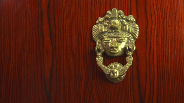 knock, knock, who's there? - door knocker stock videos & royalty-free footage