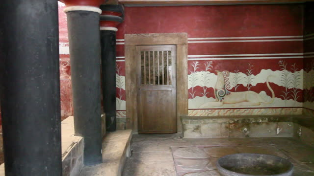 Knossos Palace, Throne Room, Throne, Knossos, Greece, Crete Island