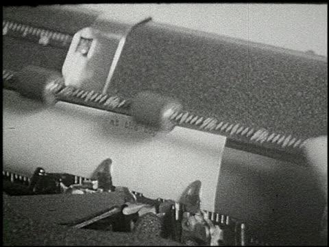 vídeos de stock, filmes e b-roll de know your typewriter - 4 of 12 - veja outros clipes desta filmagem 2356