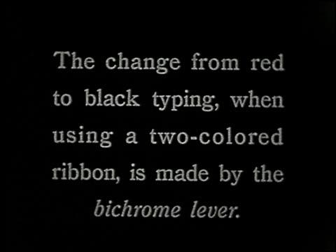 vídeos de stock, filmes e b-roll de know your typewriter - 6 of 12 - veja outros clipes desta filmagem 2356