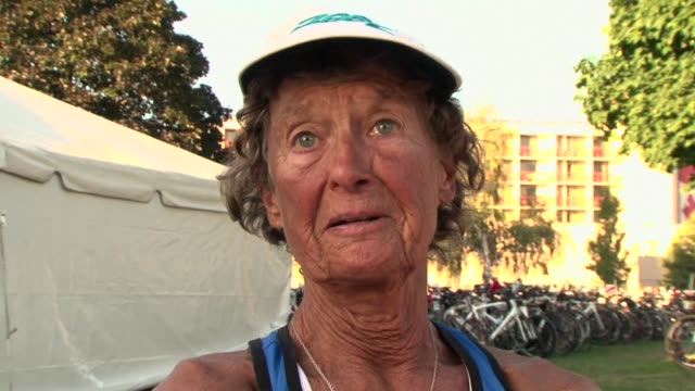 known as the 'iron nun' sister madonna buder is the oldest female competitor to have completed an ironman competition at the age of 75 penticton... - nun stock videos and b-roll footage