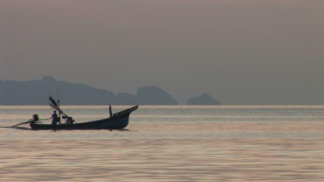 Ko Samui, ThailandView of a boat cruising in Ko Samui Thailand
