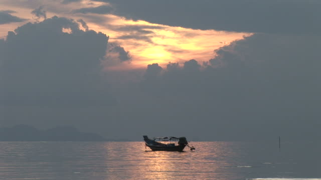 Ko Samui, ThailandView of a long tail fishing boat anchored in Ko Samui Thailand