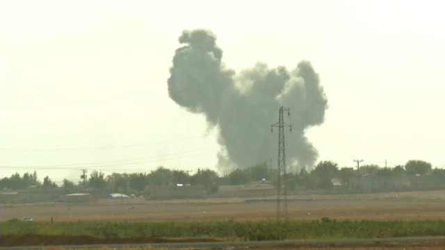 kobani fight air strike - vox populi stock videos & royalty-free footage