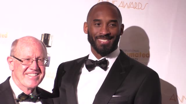 kobe bryant at the 44th annual annie awards on february 04 2017 in los angeles california - kobe bryant stock videos & royalty-free footage