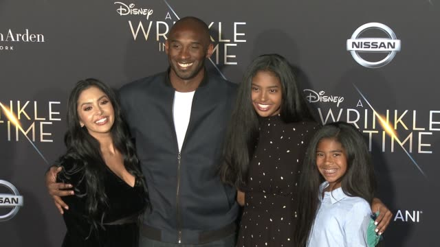 kobe bryant at the a wrinkle in time world premiere at the el capitan theatre on february 26 2018 in hollywood california - kobe bryant stock videos & royalty-free footage