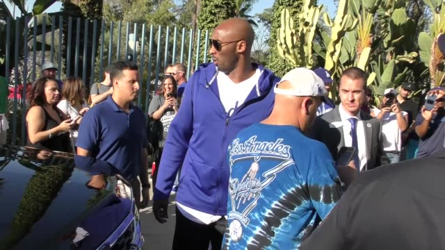 kobe bryant at the dodgers vs. red sox world series game 5 at dodger stadium in los angeles at celebrity sightings in los angeles on october 27, 2018... - television game show stock videos & royalty-free footage