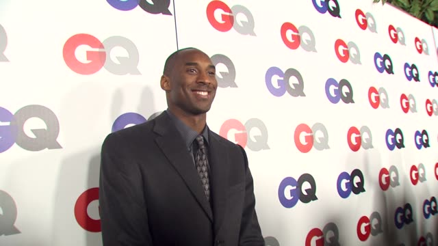 kobe bryant at the gq magazine's 2009 'men of the year' party at los angeles ca - kobe bryant stock videos & royalty-free footage