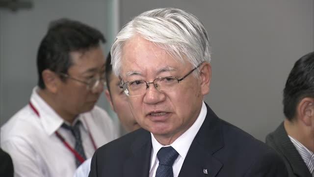 kobe steel president and ceo hiroya kawasaki takes press conference kawasaki sayingwe lost our cutomers' credit we will thoroughly analyze the cause... - 和解点の映像素材/bロール