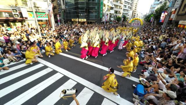 koenji awa odori festival - celebration stock videos & royalty-free footage
