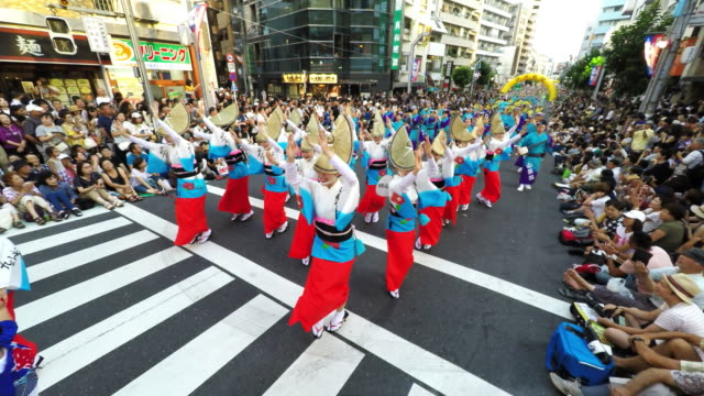 koenji awa odori festival - excitement stock videos & royalty-free footage