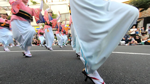 koenji awa-odori festival - tokyo japan stock videos & royalty-free footage