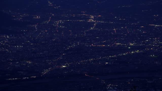 Kofu city from Mt.Amari,Yamanashi