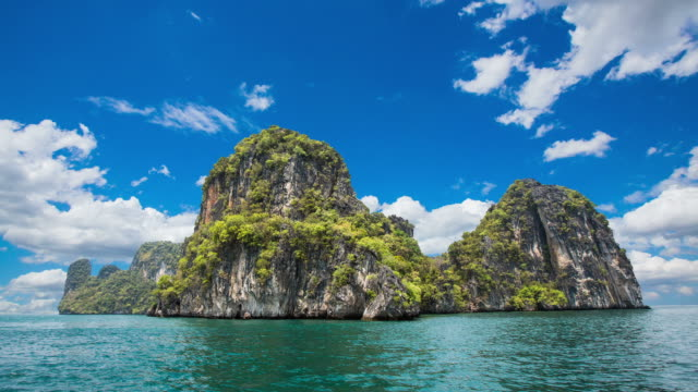 koh hong,national park phang nga bay - phang nga bay stock videos and b-roll footage