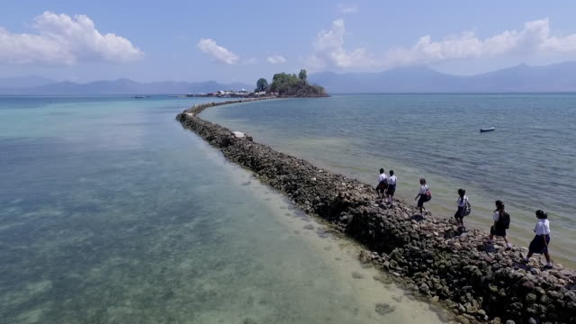 koja doi island, flores. - people in a row stock videos & royalty-free footage