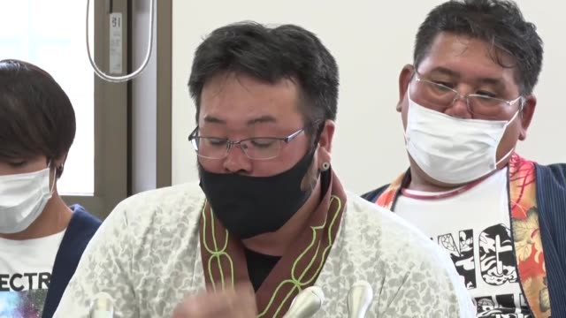 koki nagane , who heads a group of ethnic minority ainu from the hokkaido town of urahoro, speaks at a press conference after the group filed a... - fishing industry stock videos & royalty-free footage
