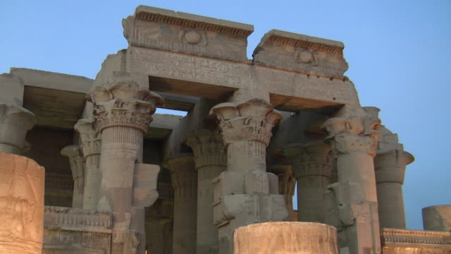 cu, zo, kom ombo temple, egypt - monumente stock-videos und b-roll-filmmaterial