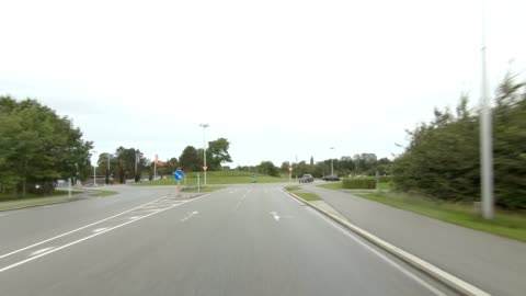 kongevejen denmark ix synced series front view driving process plate - north stock videos & royalty-free footage