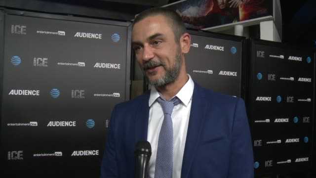 interview konstantin lavysh at att's audience network celebrates the premiere of ice at arclight cinemas on november 09 2016 in hollywood california - arclight cinemas hollywood 個影片檔及 b 捲影像