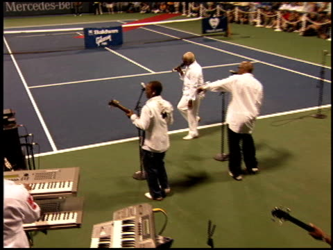 kool and the gang at the night at the net charity tennis at ucla in westwood, california on july 25, 2005. - westwood neighborhood los angeles stock videos & royalty-free footage