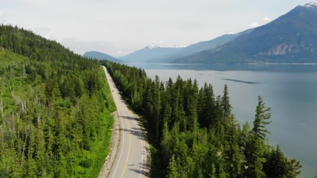 Kootenay Lake Drone Shot
