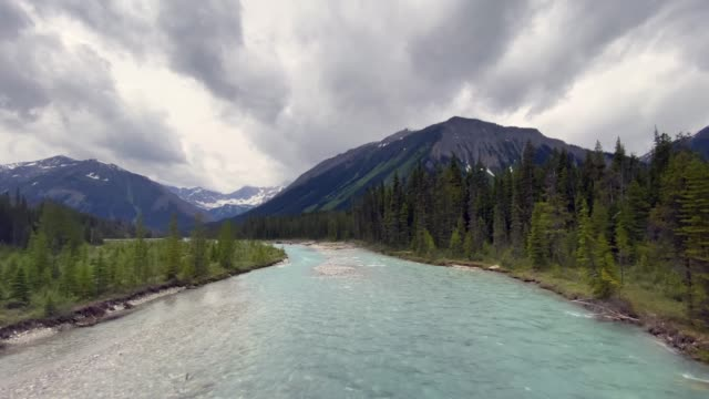 kootenay river waterfall at marble canyon, british columbia, canada - turquoise coloured stock videos & royalty-free footage