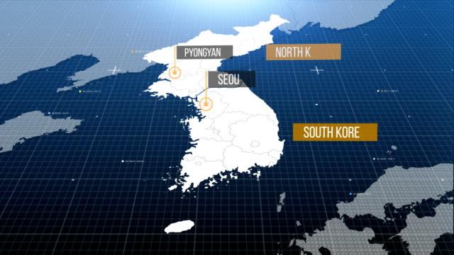 vídeos y material grabado en eventos de stock de mapa de corea - coreano oriental