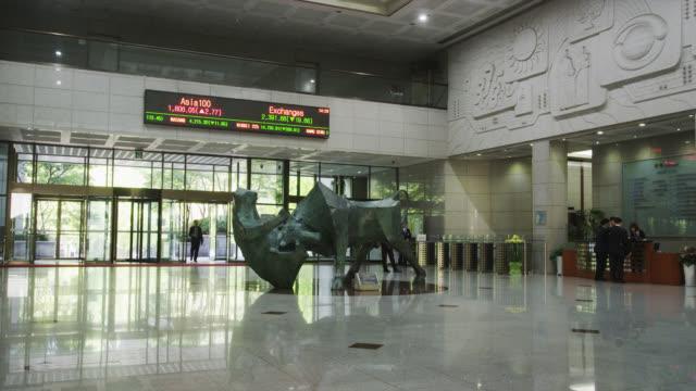 stockvideo's en b-roll-footage met korea stock exchange - digital signage