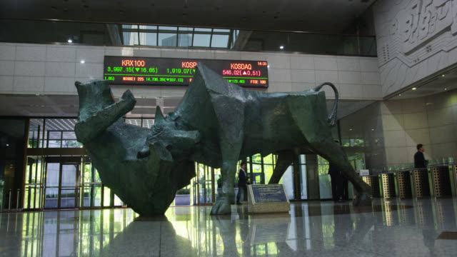 korea stock exchange - bear market stock videos and b-roll footage