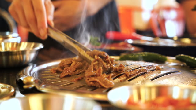 korea traditional bbq grill - japanese food stock videos & royalty-free footage