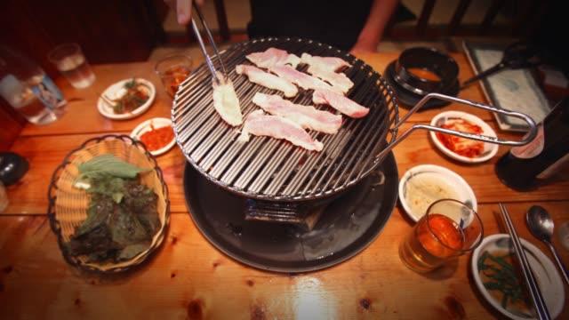 korean bbq timelapse - korea stock videos & royalty-free footage