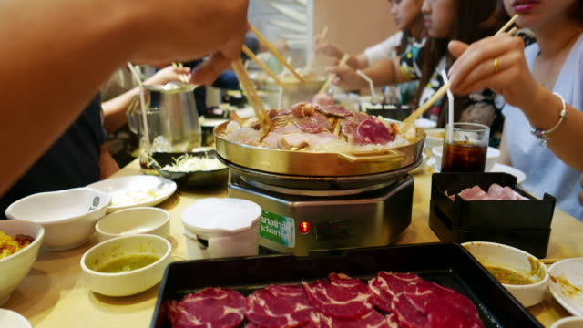 korean bbq - korea stock videos & royalty-free footage