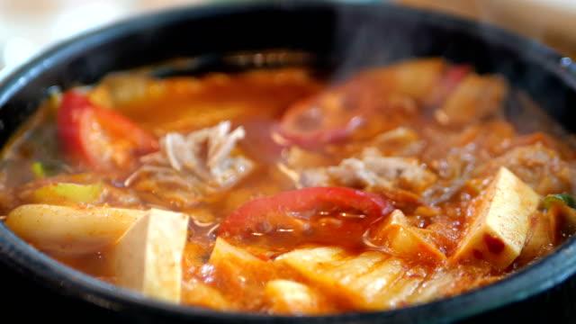 韓国キムチスープ - 唐辛子点の映像素材/bロール