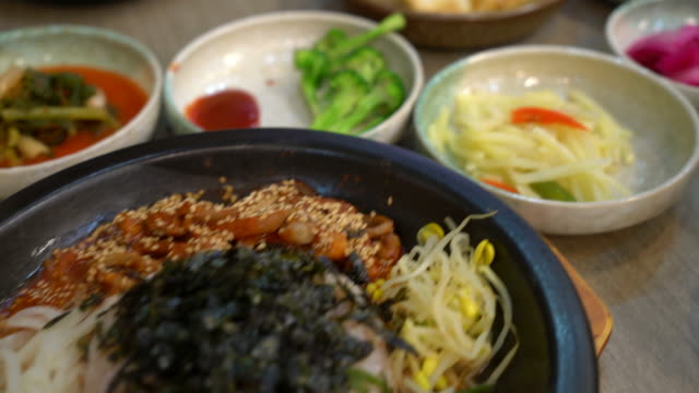 korean traditional food (Bibimbap)