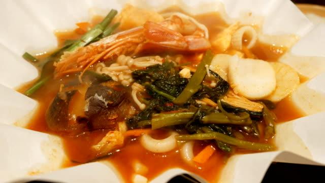 Koreaanse traditionele Kimchi soep